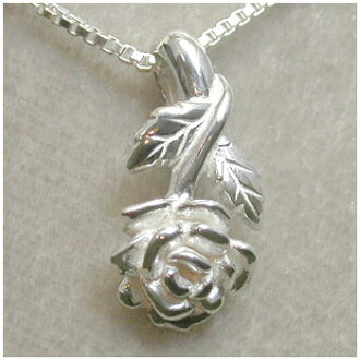 供玫瑰花的銀子項鏈女士項鏈SILVER 925銀的倉庫項鏈Ladies Necklace女性使用的項鏈吊墜女士項鏈項鏈女士