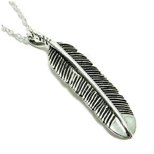 供供平地羽根銀子項鏈SILVER 925銀的倉庫人項鏈Mens Necklace男性使用的項鏈銀子項鏈當地人羽毛人項鏈男性使用的項鏈