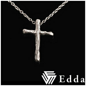 ☆送料無料☆【Edda/エッダ】ナチュラルクロスシルバーネックレス