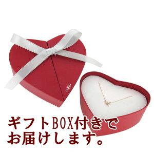 ☆送料無料☆【entiere】トリプルダイヤハートゴールドネックレス(40cm)【ギフトBOX付き】