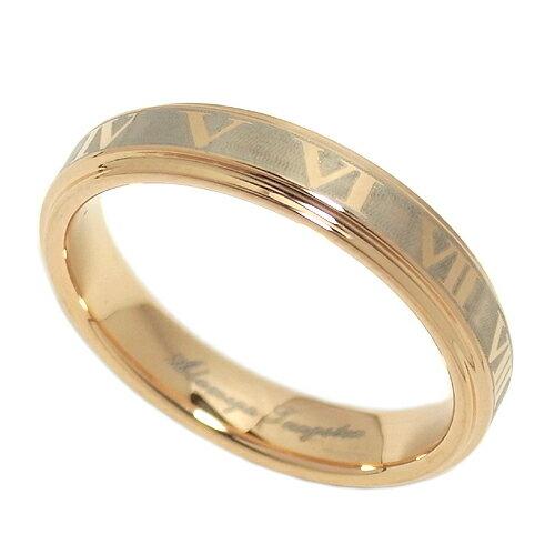 ローマ数字クロックピンクタングステンリング7〜13号レディースリングタングステン指輪ローマ数字アクセサリー女性プレゼントTung