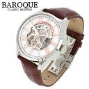 BAROQUE 腕時計 ブランド ウォッチ PLELUDIO BA2003S-01BR プレリュード 時計 メンズ 紳士 かっこいい シースルー スケルトン 自動巻き オートマチック 人気 プレゼント 彼氏 おしゃれ