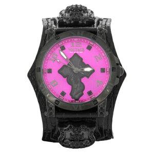 ★送料無料★【VOLTAGE/時計】リヴァイブ(ブラック/ピンク)スネーククロススワロフスキー