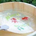 透明うちわ うちわ立てセット 都うちわ 水うちわ 金魚 ホタル【京都ぎんやんま】