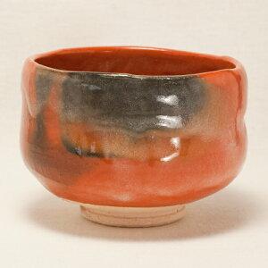 (楽焼・京焼)楽焼の赤楽茶碗です。【レビューを書いて5%OFF!】 幸楽 赤楽茶碗(抹茶碗)〔服...