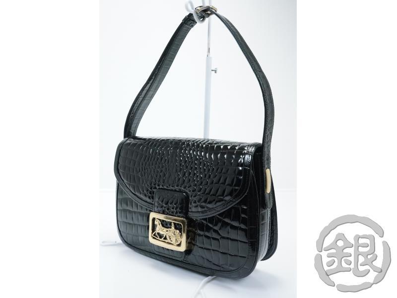 レディースバッグ, ショルダーバッグ・メッセンジャーバッグ 5,000off celine vintage Crocodile skin horse carriage shoulder bag italy GINZA-JAPAN LV
