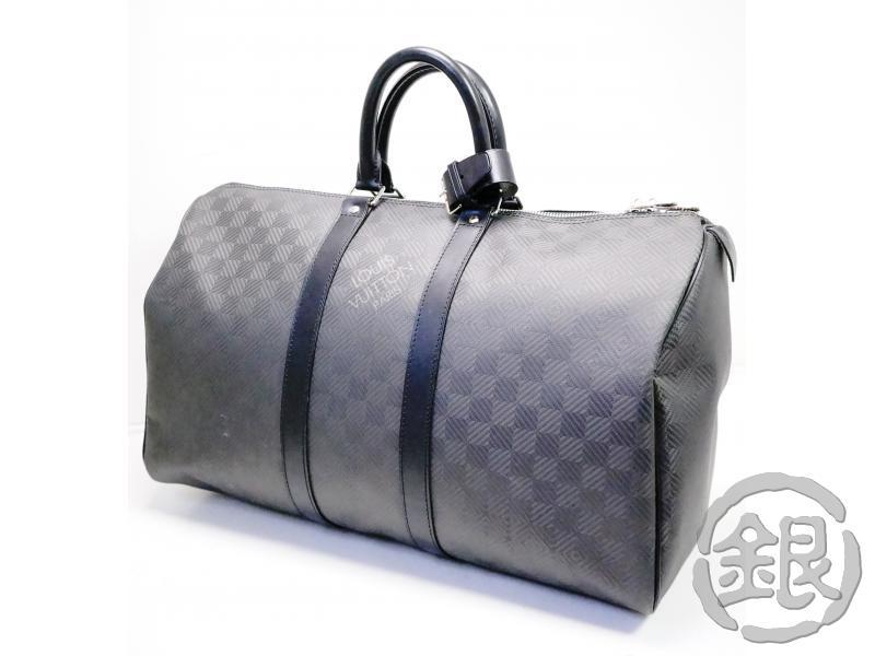 メンズバッグ, ボストンバッグ 5,000off 45 LOUIS VUITTON DAMIER CARBONE KEEPALL 45 BAG N41415 GINZA-JAPAN LV