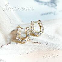 【特別価格】☆mesanges☆【K18】ネックレス【月モチーフ】天然ダイヤモンド【計0.10ct】