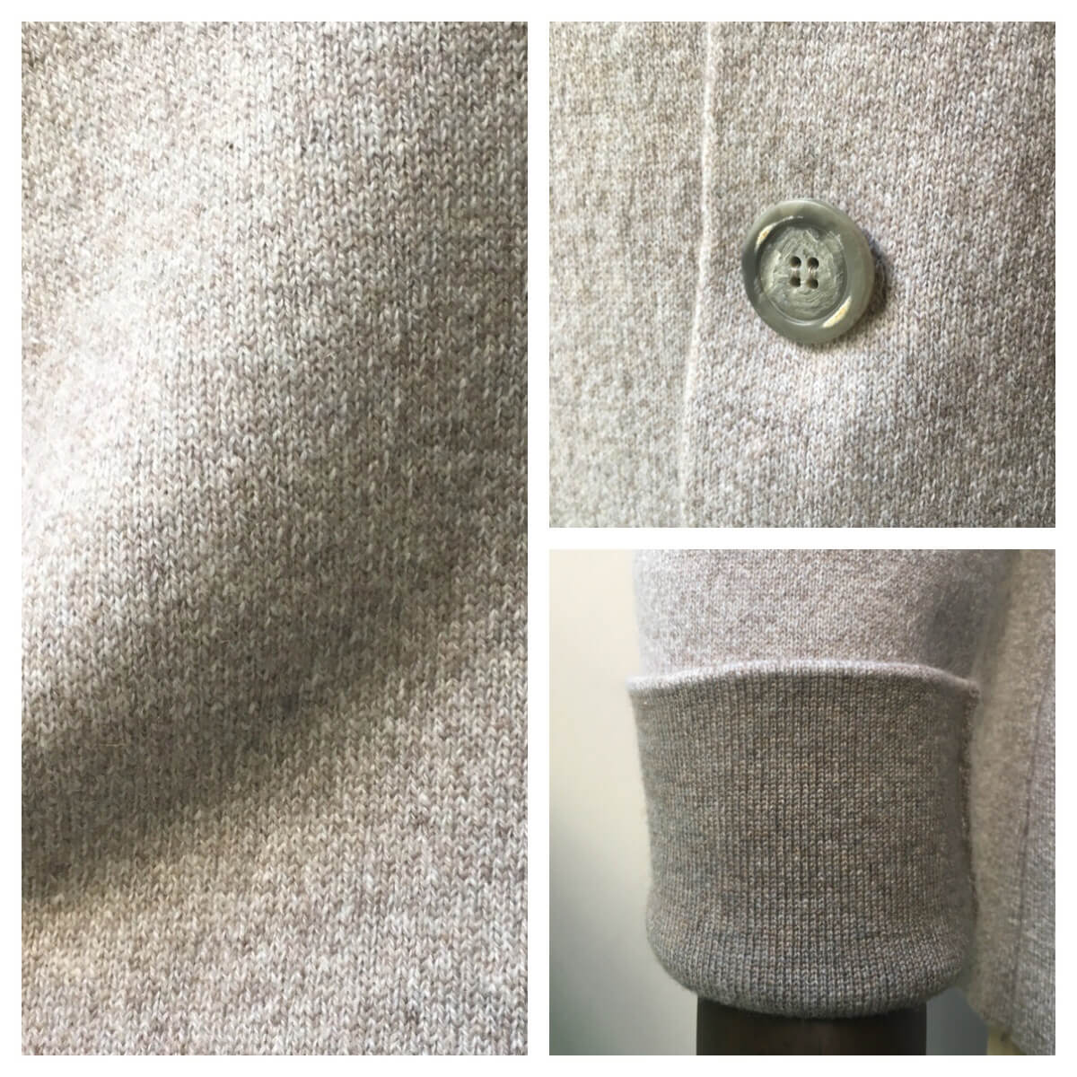 FEDELI (フェデーリ) カジュアルニットジャケット メンズ カジュアル 3つボタン カシミヤ ブラウン ベージュ スウェード おしゃれ ニット 大きいサイズ
