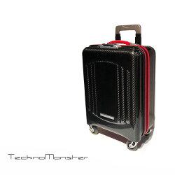 TecknoMonseter(テクノモンスター)ドキュメントケースレッドSサイズクラッチバッグハンドバッグカーボンファイバーカーフレザーおしゃれ