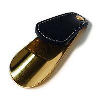 (靴べら携帯真鍮吉田三郎特注ブラスシューホーンソリッドブラス13&ブライドル革