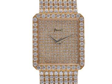 PIAGET ピアジェ ライムライト 全面ダイヤ レディース YG 腕時計 手巻き ダイヤ文字盤 Aランク 中古 銀蔵