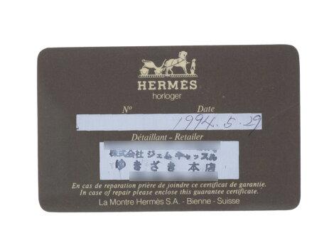 エルメス・HERMESメドールGP/革白文字盤○W刻印【】◇