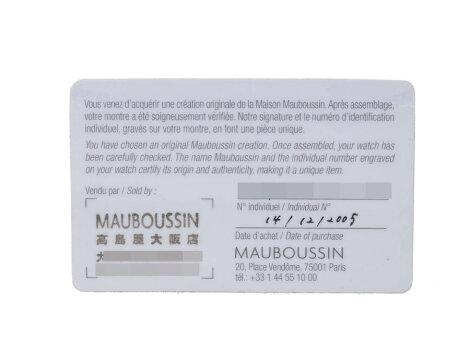 モーブッサン・MAUBOUSSINフーガR.908SS/レザーシェル文字盤クオーツ時計【】◇
