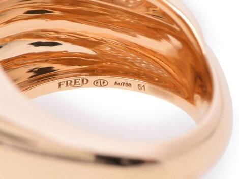 フレッド・FREDサクセスミディアムリングYGダイヤ14.7g#51【】◇
