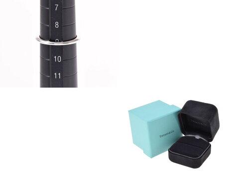 ティファニー・TIFFANY&COリングダイヤ0.44ctI-VS1-3EXPT9503.3g#9箱鑑定書【】◇