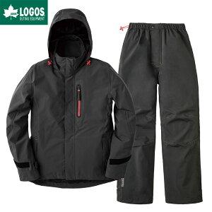LOGOS ロゴス レインウェア 上下 メンズ マルチストレッチ レインスーツ ノーム ブラック L