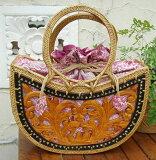 [クーポン発行中] カゴバッグ 熟練職人手作りアタバッグ アトゥハンドル (巾着付き)atb905 プレゼント ギフト 贈り物