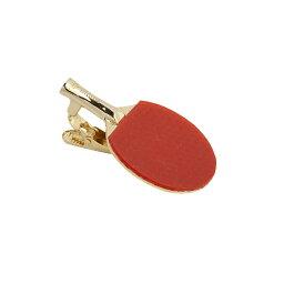 卓球ラケットタイピン RED×GOLD