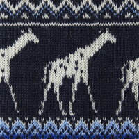 【giraffe/ジラフ】アニマルジラフニットタイNAVY