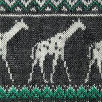 【giraffe/ジラフ】アニマルジラフニットタイCHARCOAL