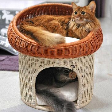 【1000円OFFクーポン配布中】 ラタン マッシュルーム キャットベッド 猫用ベッド ベッド ハウス クッション 犬用 かわいい おしゃれ 猫用 ネコ いぬ 犬 イヌ