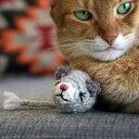 necono ネコノ ねずみのあみぐるみ キャットニップ入り 【ラッピング対応】 猫 おもちゃ ぬいぐるみ ねずみ おしゃれ 猫用品 ギフト ペットグッズ ペット用品 ねこ