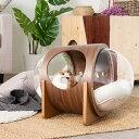 [3月上旬 予約商品] MYZOO マイズー Spaceship Alpha Wood 宇宙船 アルファ ウッド 猫 ベッド 宇宙船 ハウス 木製 天然木 シンプル MY ZOO インテリア