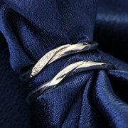 マリッジリング ダイヤモンド プラチナ シンプル プレゼント