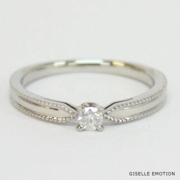 婚約指輪【10大特典あり】『エンゲージリング0.1ctダイヤモンドリングK18WG』ダイヤモンド 18金 刻印無料 サイズ直し無料 結婚記念日 彼女 誕生日プレゼント 女性 
