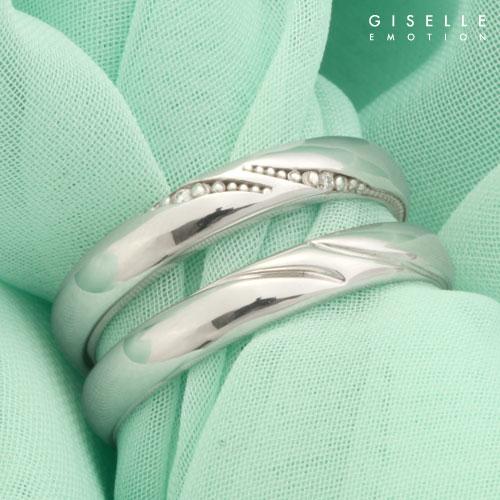 結婚指輪【10大特典あり】送料無料『マリッジリング ダイヤモンドリング ハードプラチナPT950』ペアリング|ペア|プラチナリング||シンプル|2本セット|彼女|誕生日プレゼント|女性|刻印無料(文字彫り/文字入れ):GISELLE EMOTION