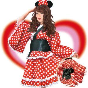 今年の夏はこれでキマリ♪ミニーマウス 浴衣 コスチュームkti052【ディズニー・キャラクター】...