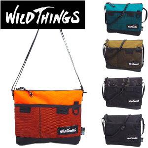 WILD THINGS ワイルドシングス サコッシュ メンズ/レディース サコッシュバッグ 全5色 WT-380-0072 ショルダーバッグ ミニショルダーバッグ 薄型 斜めがけバッグ ミニバッグ フェス 郵 メール便 送料無料