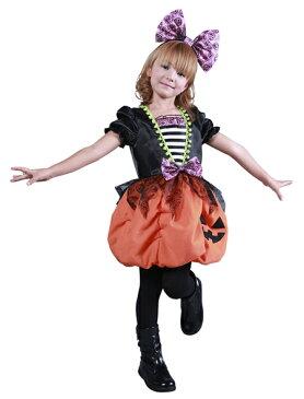 ハロウィン 衣装 子供 コスプレ ガーリーパンプキン 仮装 コスチューム ハロウィンパーティー ハロウイン イベント ハロウィーン あす楽
