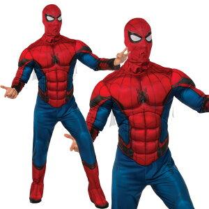 ハロウィン コスプレ 仮装 衣装 メンズ デラックス スパイダーマン Deluxe Spiderman Muscle Chest Costume 820685 イベント 学園祭 文化祭 halloween あす楽