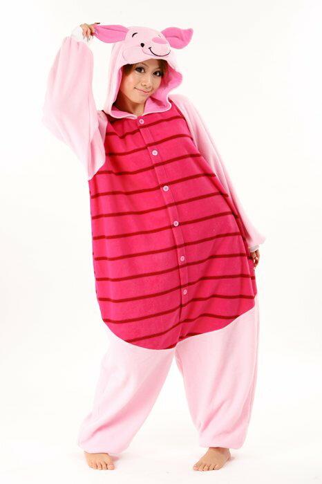 6a899e59c8e019 ハロウィン 衣装 着ぐるみ ディズニー 大人用 フリース 仮装 コスプレ コスチューム くまのプーさん ピグレットCRE238