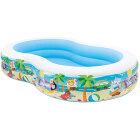 INTEX�����ס���56490/SwimCenterParadiseSeasidePool/262x160cm����ƥå�����ͷ�ӡ��ס���Pool�����ȥɥ����ʡ��쥸�㡼���ʻҶ��˥ե��ߥ��²��