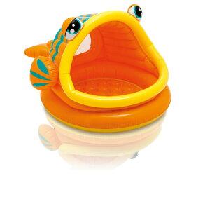 インテックス プール 日除け付き さかな 57109 Lazy Fish Shade Baby Pool ファミリープール ビ...
