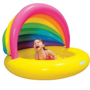 プール インテックス 57420レインボープール日除け付き Rainbow Shade Pool ファミリープール ...