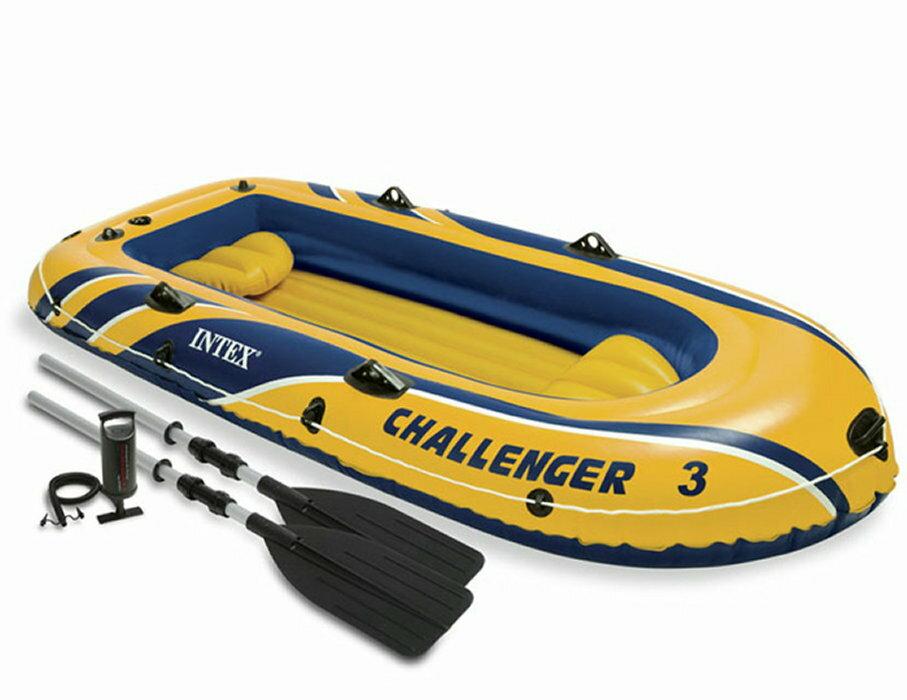 ゴムボート 3人乗りインテックス チャレンジャーボートセット