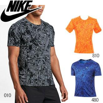 郵跑步服裝耐吉nike T恤人短袖DRI-FIT幹燥合身Myra-印刷UV 800314 810 480 010跑步田徑健身房訓練