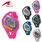 送料無料 ランニングウォッチ soma RunONE 50 DWJ23 ジョギング ウォーキング マラソン ウォッチ 腕時計 スポーツウォッチ スポーツを楽しむための時計 メンズ レディース ユニセックス