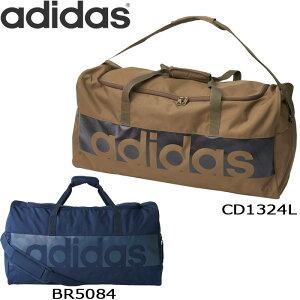 3f141a9eb1de adidas ボストンバッグ 大容量 リニアロゴ チームバッグ L メンズ/レディース ネイビー/ブラウン アディダス BVB08 ダッフルバッグ  軽量 ボストン 遠征バッグ スポ.