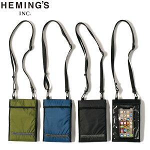メール便 トラベル オーガナイザー バッグ Heming's ヘミングス 14509 ネックウォレット 旅行 首掛け 財布 スマートフォンポーチ 軽量 撥水