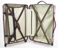 送料無料トランクキャリーケースアツキオオニシセリーヌLピンク約48L15066TSAロック搭載スーツケーストラベル旅行出張に