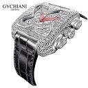 GLOBAL BRANDINGで買える「GVCHIANI(ブチアーニ)BIG SQUARE WHITE GOLD FULL DIAMOND TOURBILLON ビッグスクエア 18Kホワイトゴールド フルダイヤモンド 25カラット トゥールビヨン スイス高級腕時計」の画像です。価格は81,510,000円になります。