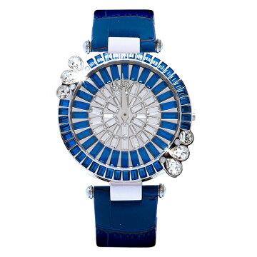 ガルティスコピオ腕時計MARGUERITE花1ブルー