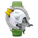 蝶とスワロフスキーの腕時計 Galtiscopio(ガルティ...
