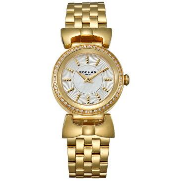 ファッション界を代表するフランスのラグジュアリーブランド ROCHAS(ロシャス)のレディース腕時計 ARTDECO09 シルバー/ゴールド アールデコ リボンモチーフ メタルブレスレット パリコレ スイス製