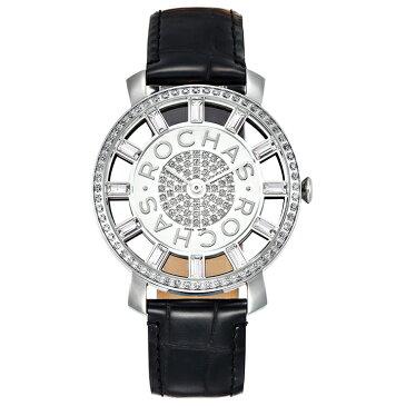 香水が世界的に有名なフランスのラグジュアリーブランド ROCHAS(ロシャス)の腕時計 RJ17 シルバー/ブラック レディース時計 メンズ時計 ジュエリーウォッチ ファッション
